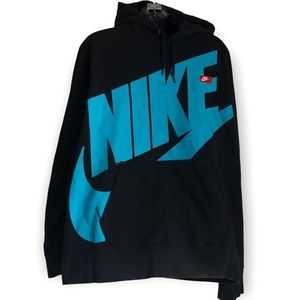 RARE NIKE Logo pull over marsupial hoodie in size XL  difficult to find in USA